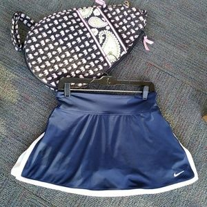 NIKE navy blue & tennis skirt skort - stretchy M